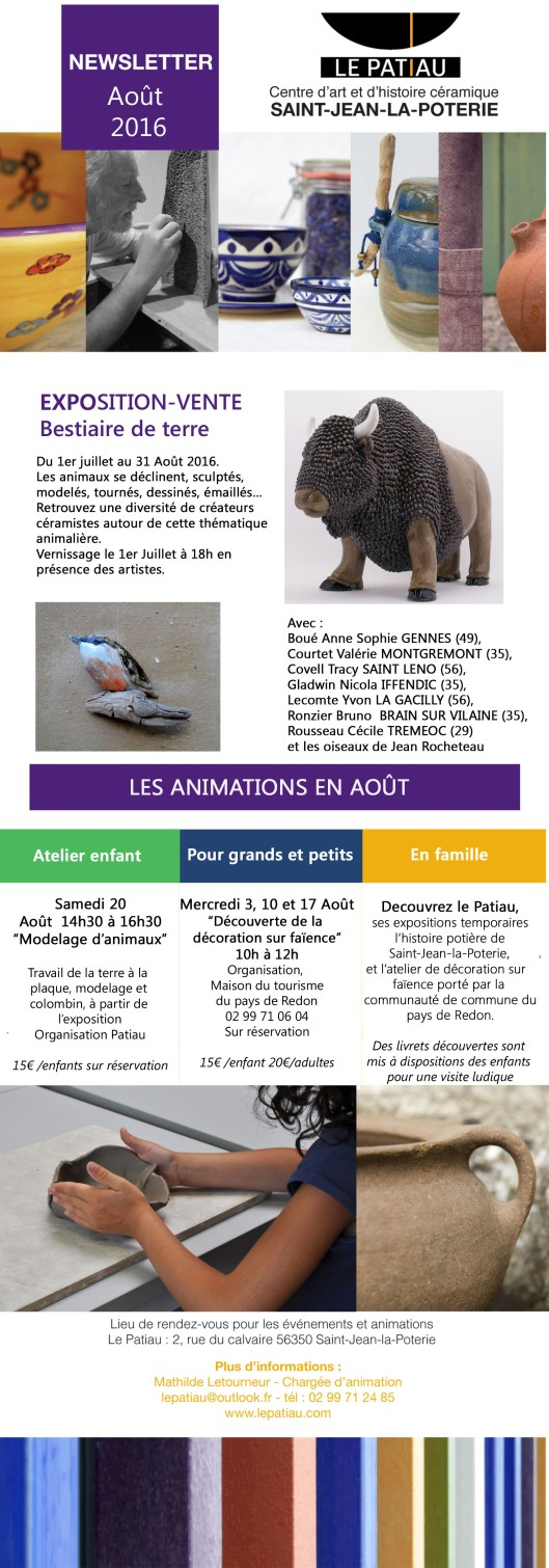 NEWSLETTER aout 2016 copie